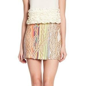 Cynthia Rowley Embroidered Skirt